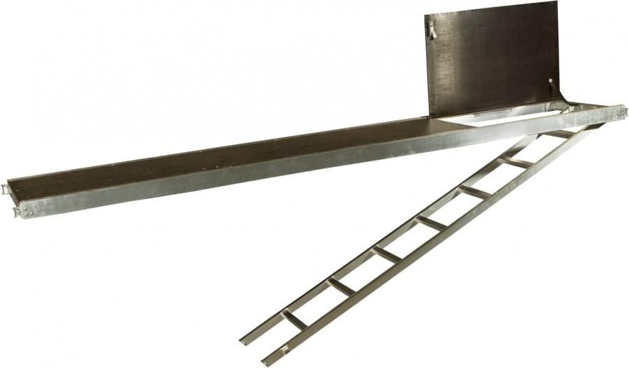 plettac distribution - Podest aluminiowo-sklejkowy z klapą i drabiną (Standard)