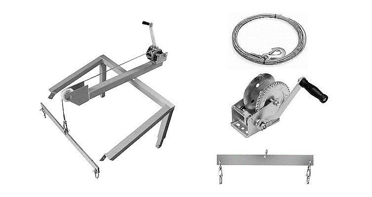 plettac distribution - Montageständer mit Winde und Schleppleine