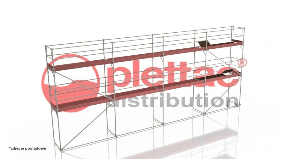 plettac distribution - Zestaw rusztowania 84m2 /Podest stalowy 3m